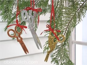 Foiled! Scissor Ornaments